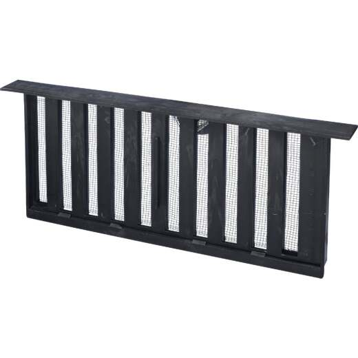 Witten PMS-1 8 In. x 16 In. Black Manual Sliding Foundation Vent with Lentil