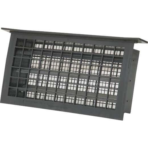Witten 8 In. x 16 In. Black Automatic Foundation Ventilator with Lentil