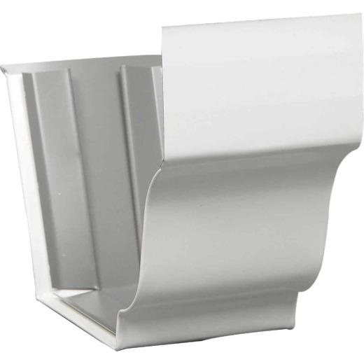 Amerimax 5 In. Galvanized White Slip-Joint Gutter Connector
